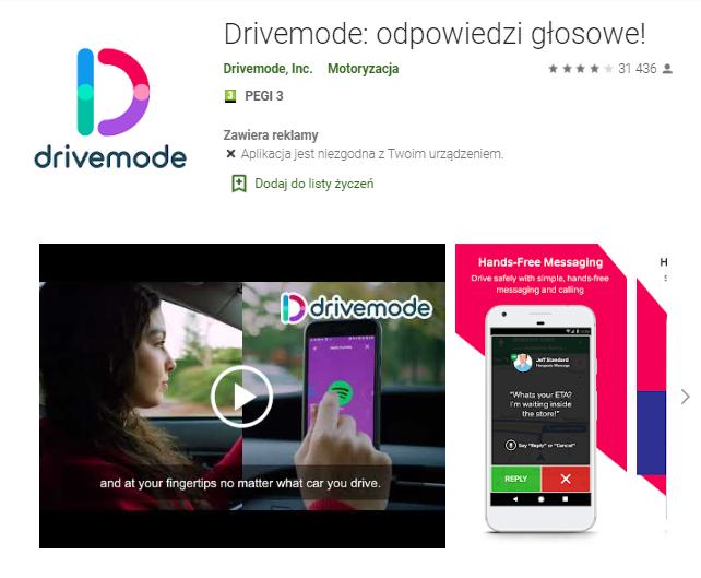 Drivemode-odpowiedzi-głosowe-aplikacja-android-samochod-najlepsze-aplikacje-dla- kierowcow-skrzynie-zajac-skrzynie-biegow-manualne-sklep-interntowy