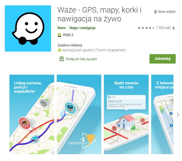 Waze-GPS-mapy-korki-i-nawigacja-na-żywo-aplikacja-android-samochod-najlepsze-aplikacje-dla- kierowcow-skrzynie-zajac-skrzynie-biegow-manualne-sklep-interntowy
