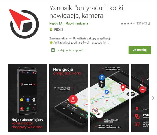 Yanosik-antyradar-korki-nawigacja-kamera-aplikacja-android-samochod-najlepsze-aplikacje-dla- kierowcow-skrzynie-zajac-skrzynie-biegow-manualne-sklep-interntowy